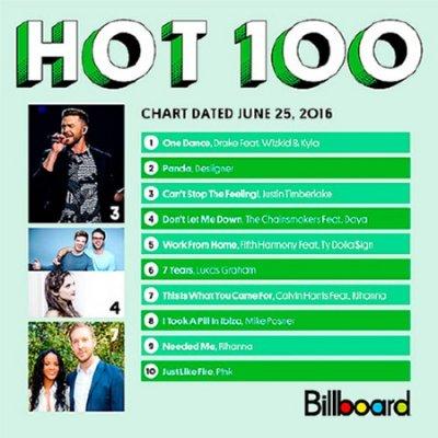 Billboard Hot 100 Singles Chart 25.06.2016 (2016)